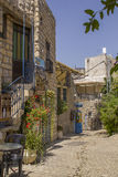 Ancient town Sefad street ,Israel Stock Image