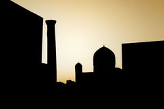 Ancient town silhouette. Silhouette of an ancient historical oriental town Royalty Free Stock Photos