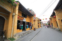 Ancient Town street in Hoi An, Vietnam Stock Photo