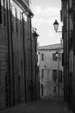 Ancient town street Mondavio Marche Italy. An old street in the ancient town of Mondavio in Italy Stock Photo