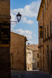 Ancient town street Mondavio Marche Italy. An old street in the ancient town of Mondavio in Italy Stock Images