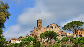 Ancient town of Sutri panorama Royalty Free Stock Photo