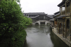 Ancient town of Taierzhuang. Taierzhuang ancient town in the rainy season Stock Photography