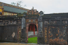 An ancient town in Vietnam, the fortress in the city in hue Royalty Free Stock Photography