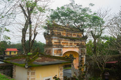 An ancient town in Vietnam, the fortress in the city in hue Stock Image