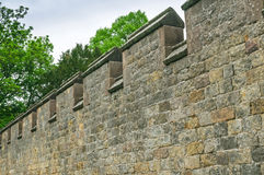 Ancient Town Wall Fortifications Stock Image