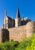 Ancient town walls  and Episcopal Palace of Astorga Royalty Free Stock Photos