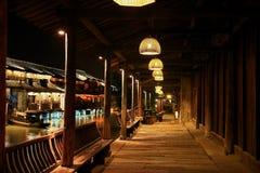 The ancient town of Wuzhen,Tongxiang,Zhejiang,China. The ancient town of Wuzhen, a typical ancient water towns in Jiangnan area of Han nationality in China stock photography