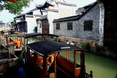 The ancient town of Wuzhen,Tongxiang,Zhejiang,China. The ancient town of Wuzhen, a typical ancient water towns in Jiangnan area of Han nationality in China royalty free stock images