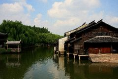 The ancient town of Wuzhen,Tongxiang,Zhejiang,China. The ancient town of Wuzhen, a typical ancient water towns in Jiangnan area of Han nationality in China stock images