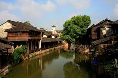 The ancient town of Wuzhen,Tongxiang,Zhejiang,China. The ancient town of Wuzhen, a typical ancient water towns in Jiangnan area of Han nationality in China stock photo