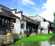 The ancient town of Xitang houses Royalty Free Stock Image