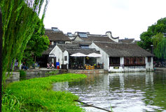 The ancient town of Xitang houses Royalty Free Stock Images