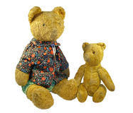 Ancient toys -  plush a bears Stock Images