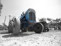 Ancient Tractor stock photo