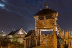 Ancient trading faktory village in Pruszcz Gdanski, Poland stock images