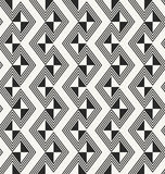 Ancient traditional African fabric texture with repeating monochrome rhombuses Stock Photography