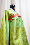 Ancient traditional Korea bride woman clothes Royalty Free Stock Photos