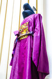 Ancient traditional Korea royal clothes HanBok Stock Images