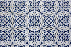 Ancient traditional Portuguese tiles. Royalty Free Stock Image
