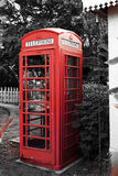 Ancient traditional red phone booth, callbox. Mauritius Royalty Free Stock Photos