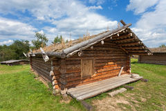 Ancient traditional russian wooden house Stock Photo