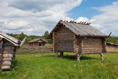 Ancient traditional russian wooden house Royalty Free Stock Photo