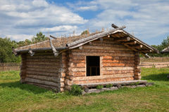 Ancient traditional russian wooden house Stock Image