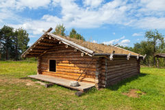 Ancient traditional russian wooden house Royalty Free Stock Image