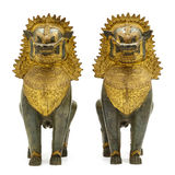 Ancient Traditional Thai Lion Statue Stock Photography