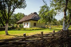 Ancient traditional ukrainian house. THE ancient traditional ukrainian house Royalty Free Stock Image