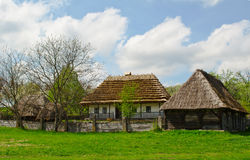 Ancient traditional ukrainian rural cottage with a Royalty Free Stock Image