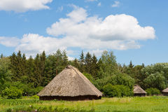 Ancient traditional ukrainian rural houses Stock Images