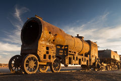 Ancient train cemetery at Uyuni Royalty Free Stock Images