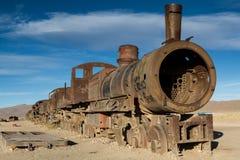 Ancient train cemetery at Uyuni Stock Photo