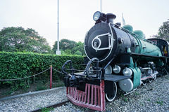 Ancient train in museum Royalty Free Stock Photography