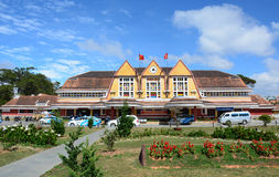 Ancient train station in Dalat, Vietnam Royalty Free Stock Images