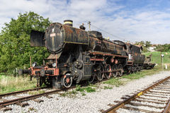 Ancient train with a steam locomotive Royalty Free Stock Photos