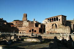 Ancient trajan forum Stock Photography