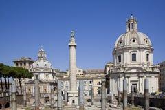 Ancient trajan market in rome stock image