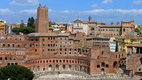 Ancient Trajan's market in Rome Stock Photo