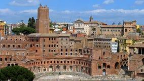 Ancient Trajan's market in Rome Stock Photo
