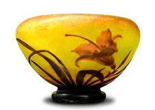 Ancient translucent glass cup Stock Image
