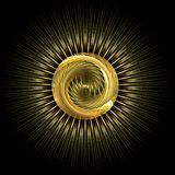 Ancient treasure artifact. Abstract fractal image resembling a precious ancient artifact rendered in gold Stock Photo