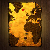 Ancient treasure map Royalty Free Stock Images