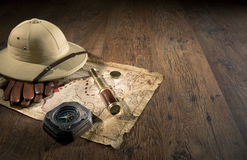 Ancient treasure map Stock Images