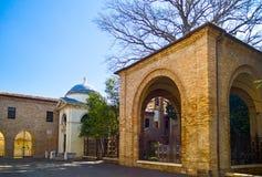 The ancient treasures of sacred art in Ravenna. Italy, Ravenna, the Dante Alighieri tomb stock photography