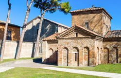 The ancient treasures of sacred art in Ravenna. Italy, Ravenna, the Galla Placidia mausoleum royalty free stock images