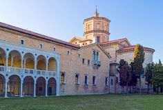 The ancient treasures of sacred art in Ravenna. Italy, Ravenna, the Loggetta Lombardesca of S.Maria in Porto royalty free stock image