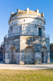 The ancient treasures of sacred art in Ravenna. Italy, Ravenna, the Mausoleum of Teodorico royalty free stock photography